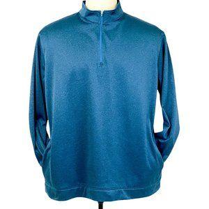 PGA Tour Jacket 1/4 Zip Pullover 3XL Blue